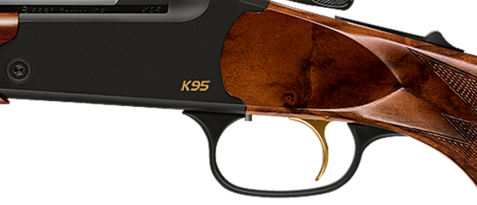 Blaser K95 single shot rifle trigger gold-colored