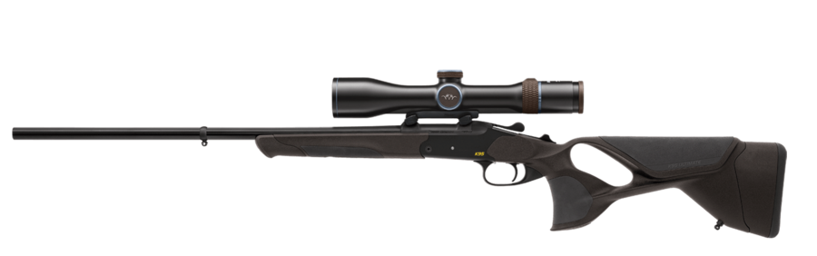 The K95 Ultimate with optional scope Blaser 2.8–20x50 iC and mount