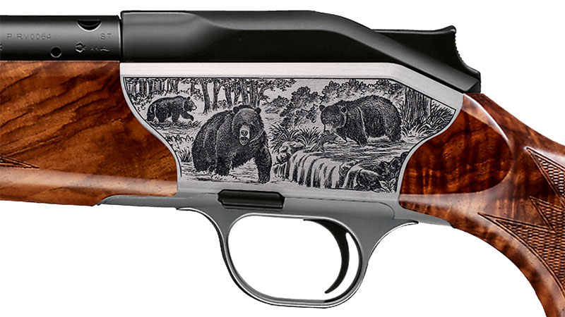 Blaser bolt action rifle R8 Luxus, engraving bear receiver