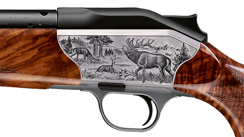 Blaser bolt action rifle R8 Luxus, engraving red deer receiver