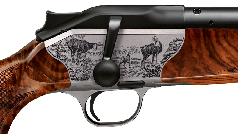 Blaser bolt action rifle R8 Luxus, engraving chamois receiver