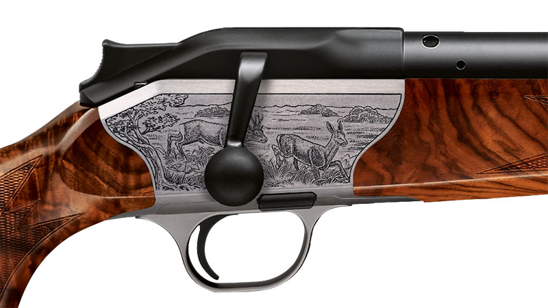 Blaser bolt action rifle R8 Luxus, engraving roe deer receiver