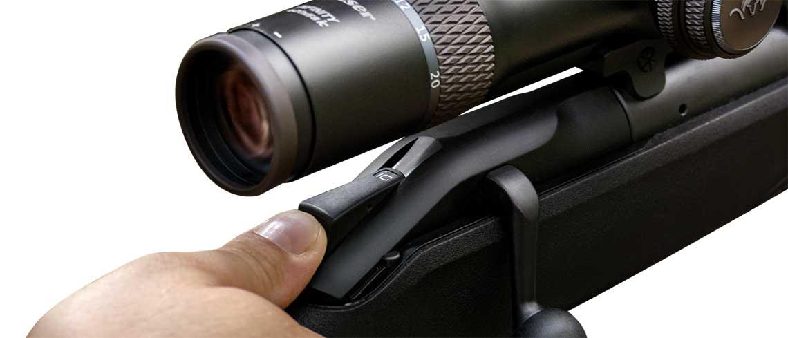 Blaser bolt action rifle R8 Control de iluminación