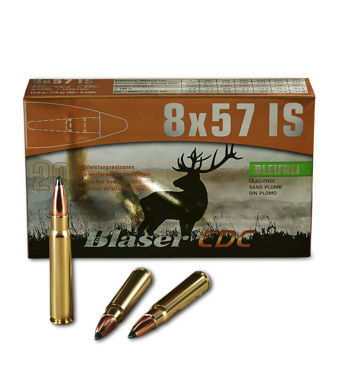 Blaser Munition Controlled Deformation Copper 8x57 IS Verpackung