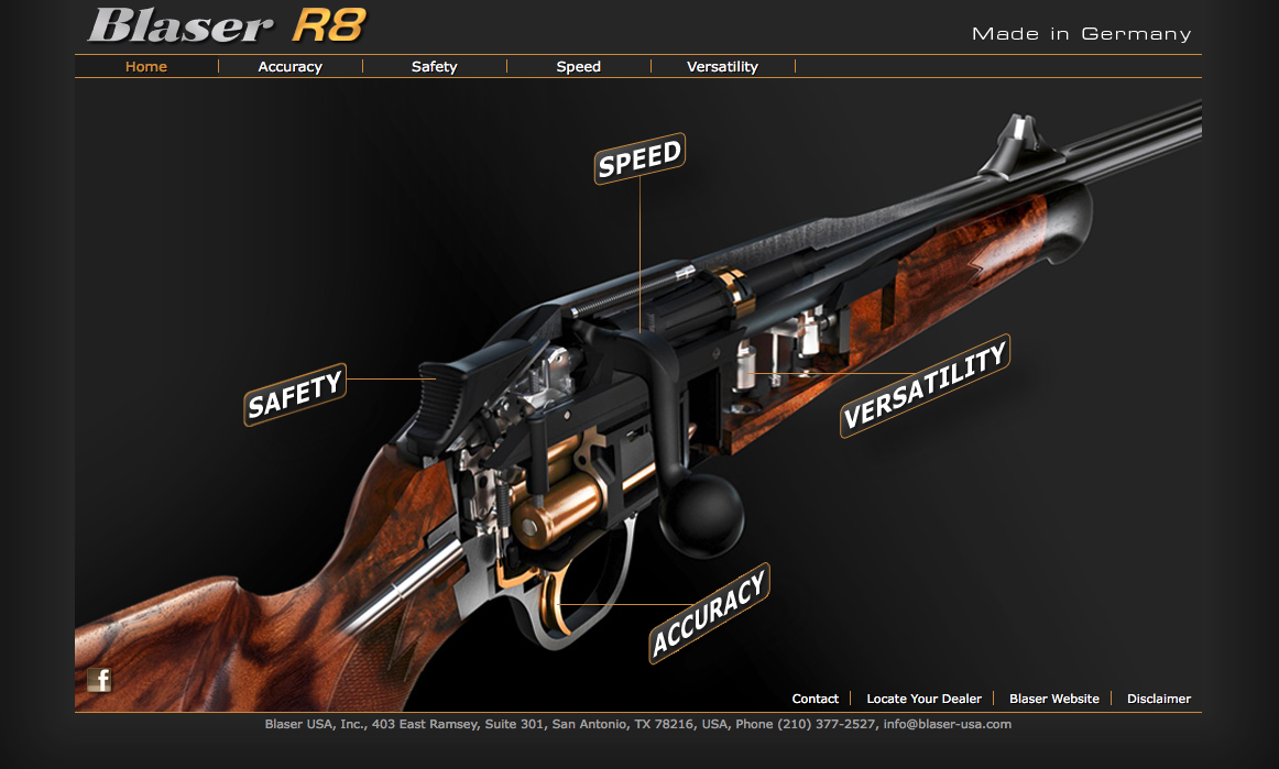[Translate to USA:] Blaser Repetierbüchse R8 in 3D