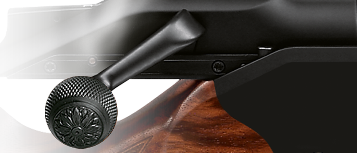 Blaser bolt handle ball steel with fish-scale chequering